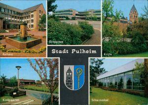 Pulheim Rathaus, Gymnasium, Kirche, Kindergarten, Schwimmbad 1986