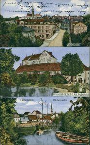 Ansichtskarte Radeberg 3 Bild: Hotel Kaiserhof, Schloß, Röderpartie 1919