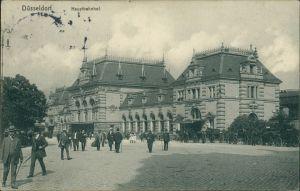 Ansichtskarte Düsseldorf Hauptbahnhof 1912