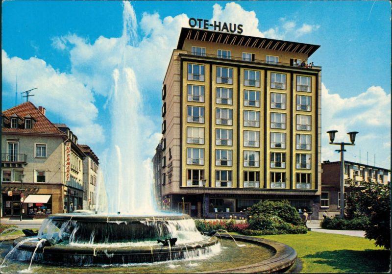 Ansichtskarte Kaiserslautern Fackelrondell mit OTE-Haus 1975