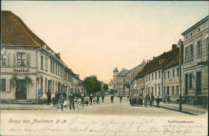 Postcard Neudamm (Neumark) Dębno Soldiner Straße Myśliborski (Kr  Soldin)  1905