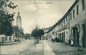 Postcard Neudamm (Neumark) Dębno Poststraße Myśliborski (Kreis Soldin)  1918