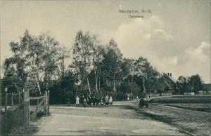 Postcard Neudamm (Neumark) Dębno Carlstraße Myśliborski (Kreis Soldin)  1911