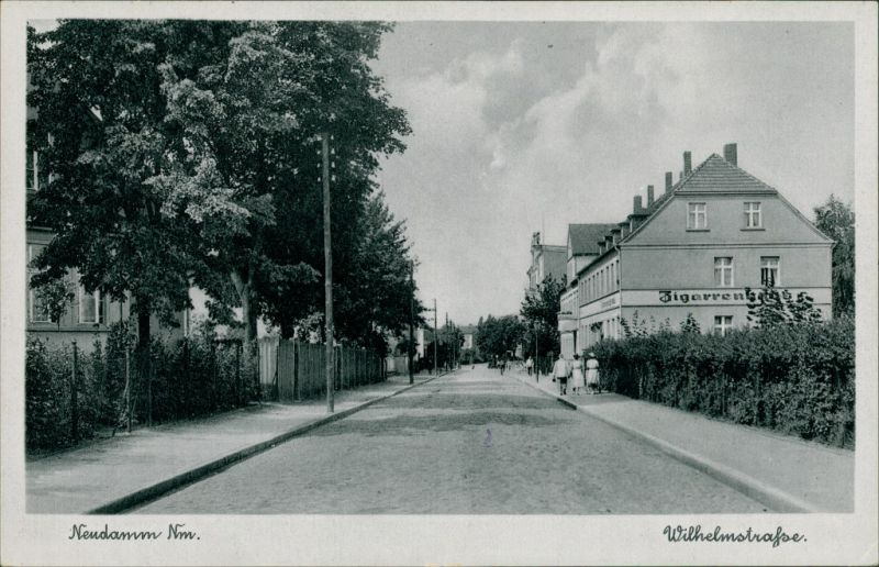 Postcard Neudamm (Neumark) Dębno Straße, Zigarrenhaus Myśliborski Soldin)  1928