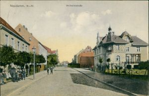 Postcard Neudamm (Neumark) Dębno Wilhelmstraße Myśliborski (Kr Soldin)   1918