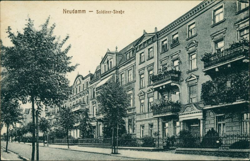 Postcard Neudamm (Neumark) Dębno Soldiner Straße Myśliborski (Kr Soldin)   1925
