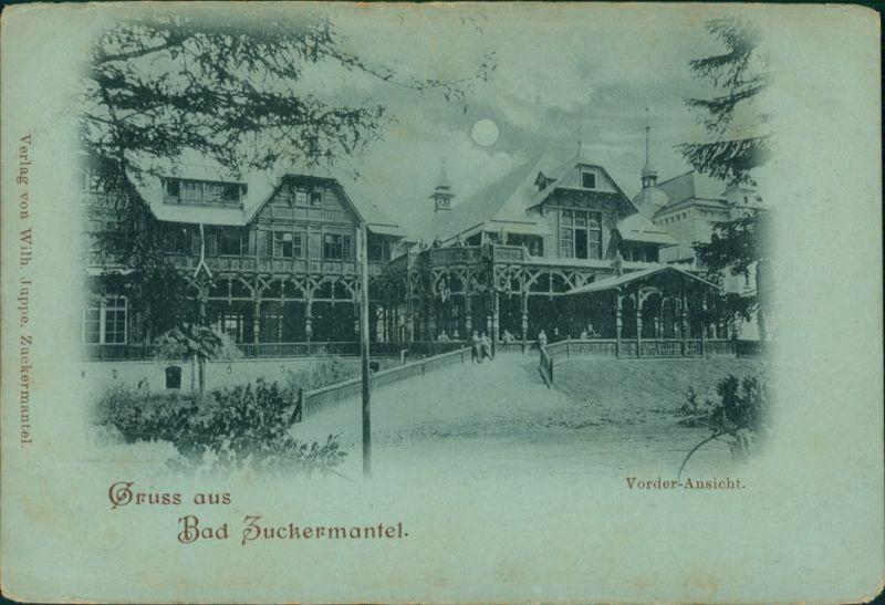 Zuckmantel Zlaté Hory Gruss aus Bad Zuckermantel: Vorderansicht 1900 Luna