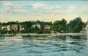 Düsternbrook-Kiel Fähre - Düsternbrook von der Wasserseite gesehen 1907