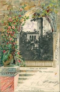 Hannoversch Münden Hann. Münden Künstlerkarte: Tilly Schanze 1903 Prägekarte