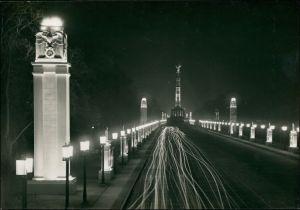 Mitte-Berlin Propaganda: Berlin bei Nacht im NS Festschmuck: Ost-West-Achse mit Siegessäule 1940
