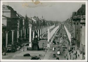 Ansichtskarte Mitte-Berlin Unter den Linden um Festschmuck 1938
