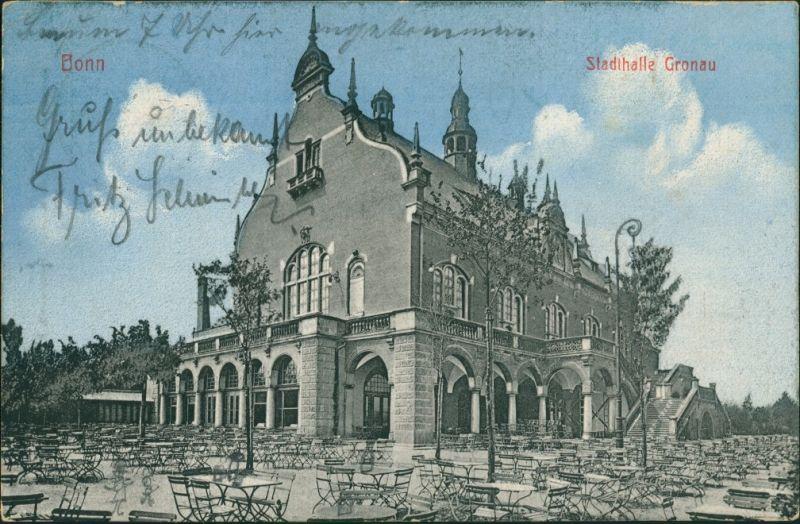 Ansichtskarte Gronau-Bonn Stadthalle Gronau 1911