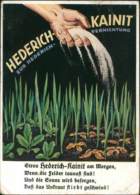 Ansichtskarte  Künstlerwerbekarte: Hederich Kainit Landwirtschaft 1928