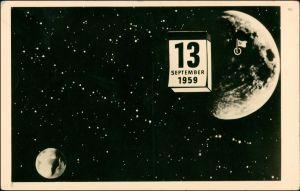 Ansichtskarte  DSF 13.9. 1959 - Raumfahrt Propaganda 1961