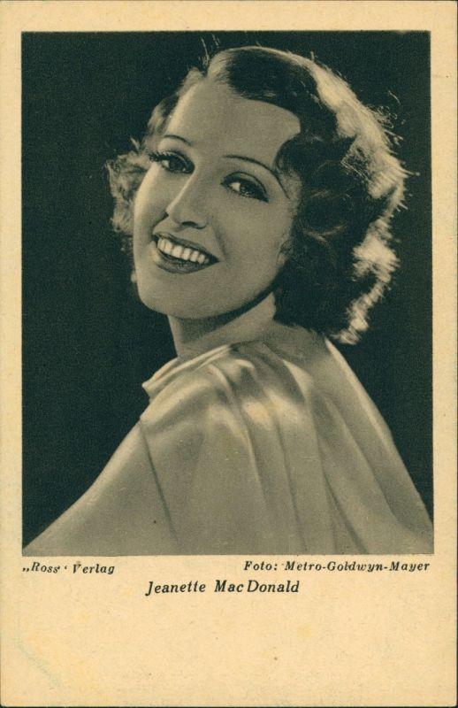 Ansichtskarte  Schauspielerin Jeanette Mac Donald (Metro-Goldwyn-Mayer) 1935