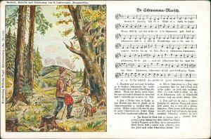 G. Lattermann, Morgenröthe: Dr Schwamma-Marsch  Liedkarte Erzgebirge  1917