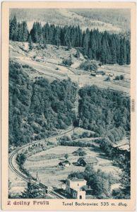 Blick auf den Tunel Bachrowiec (535m) 1940