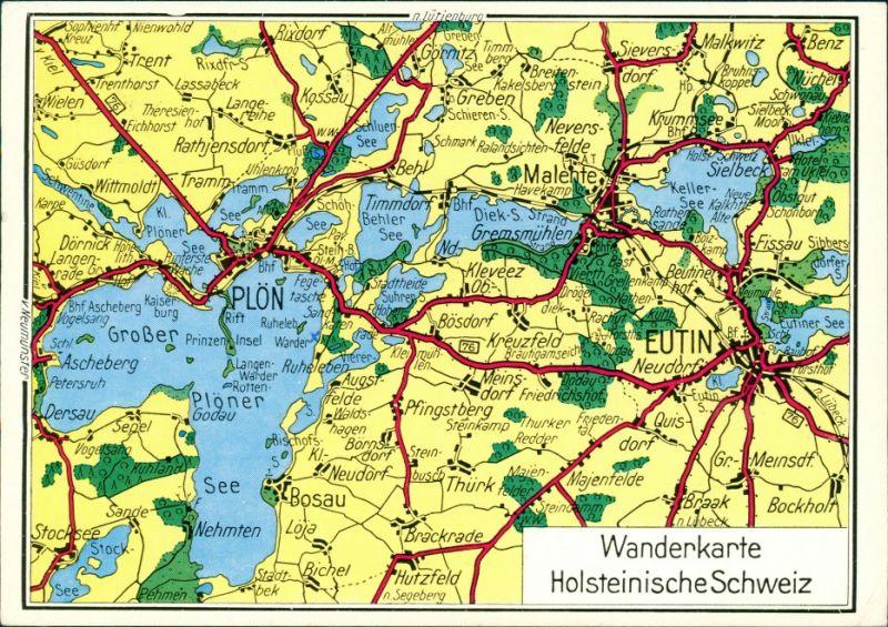 Holsteinische Schweiz Karte.Ansichtskarte Plon Holsteinische Schweiz Mit Plon Und Eutin Karte 1978
