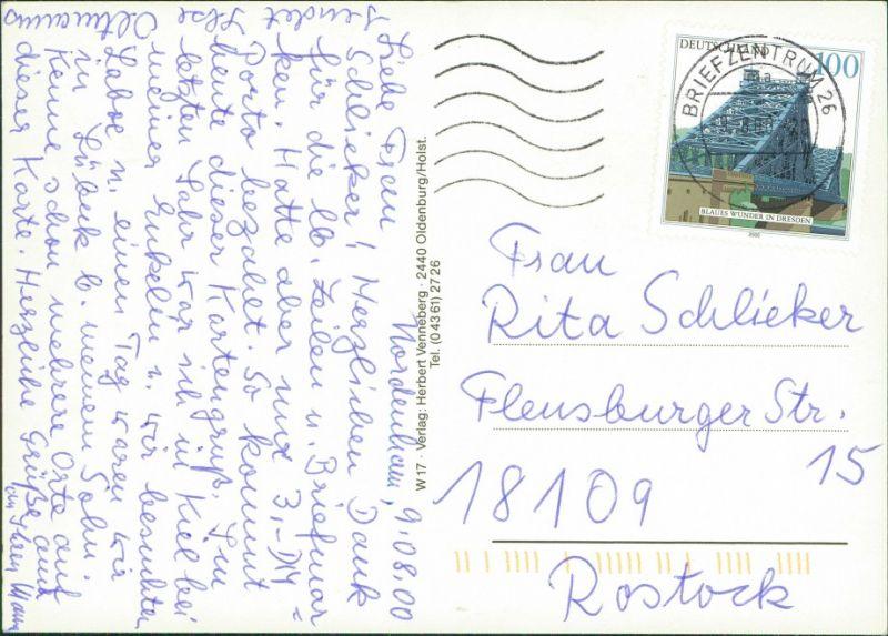 Holsteinische Schweiz Karte.Ansichtskarte Plön Holsteinische Schweiz Plön Eutin Ostsee Karte 2000