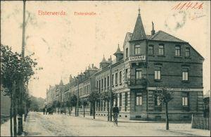 Ansichtskarte Elsterwerda Wikow Elsterstraße - Lichtbad 1913