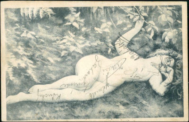 Menschen / Soziales Leben - Erotik (Nackt - Nude) Erotika in Pose 1904