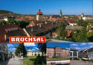 Bruchsal Über den Dächern, Fußgängerzone, Brunnen, Schloss, Markt 1999