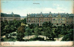 Ansichtskarte Döbeln Wettinplatz 1911