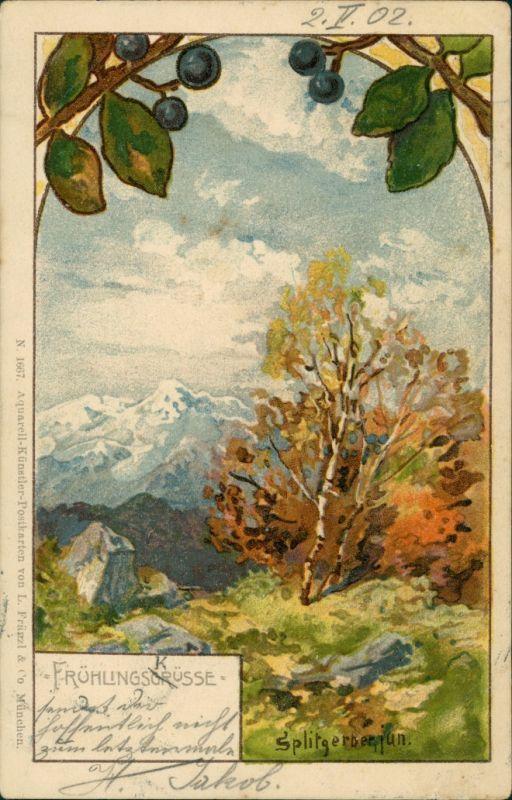 Ansichtskarte  Alpen Stimmungsbild: Frühling KK Splitgerber jun. 1902