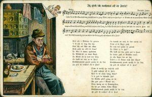 Lieder  Liedansichtskarten - Iß gieh ich nochmol off dr Freit! 1914