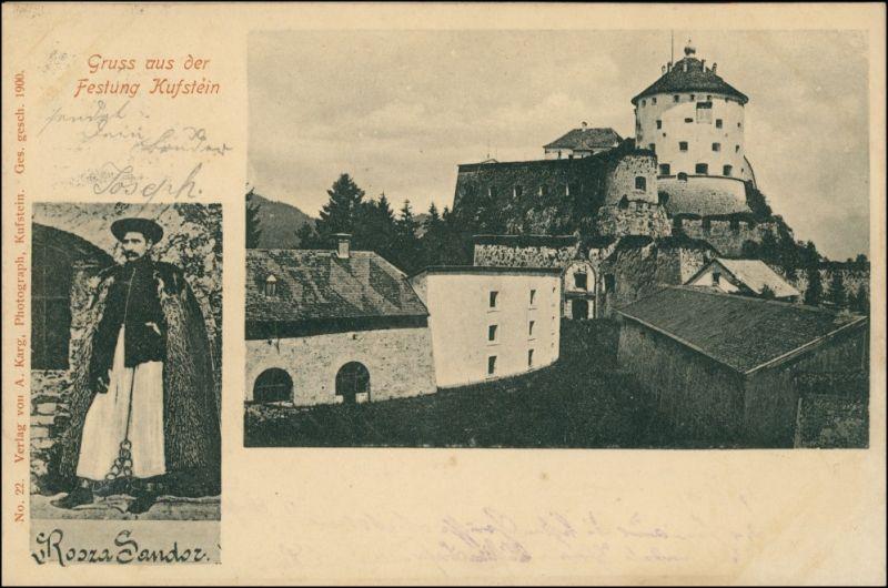 Ansichtskarte Kufstein 2 Bild Festung Kufstein 1900