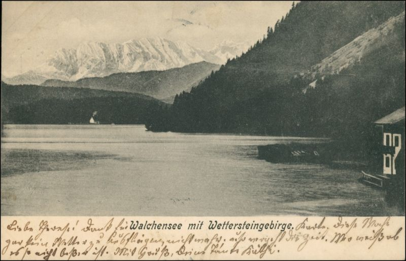 Ansichtskarte Kochel am See Walchensee - Haus 1903