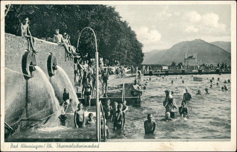 Ansichtskarte Bad Hönningen Partie im Thermalbad 1932