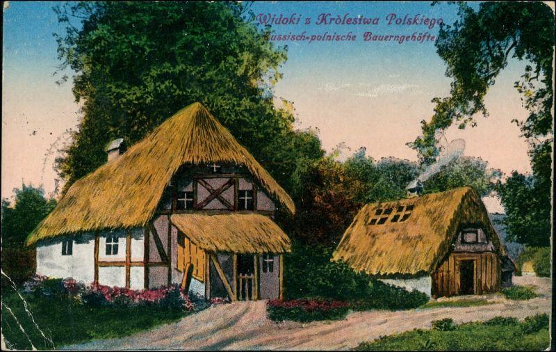Postcard Polen Polska Polen / Polska Königreich - Dorf 1916