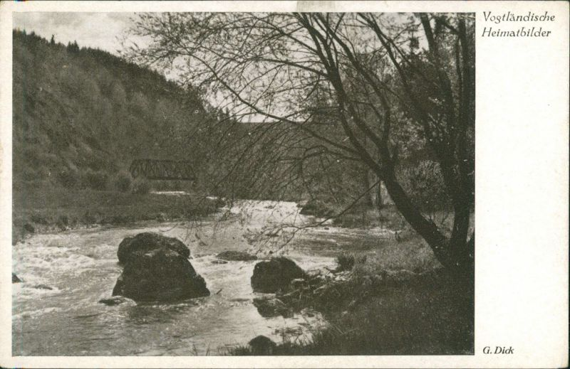 Ansichtskarte Rentzschmühle Brücke - Elstertal 1940