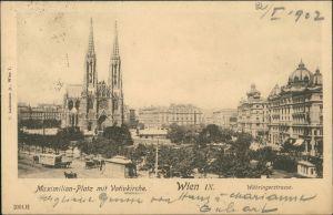 Ansichtskarte Wien Maximilianplatz Währingerstrasse 1902