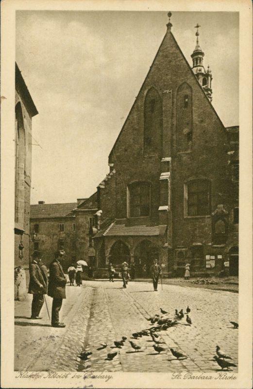 Postcard Krakau Kraków Barbarakirche 1916