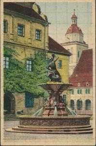 Ansichtskarte Dessau-Dessau-Roßlau Herzogliches Schloss - Schloßhof 1930