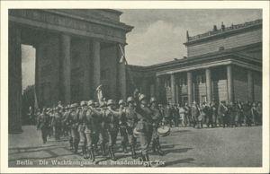 Ansichtskarte Mitte-Berlin Brandenburger Tor - Wachtkompanie 1934