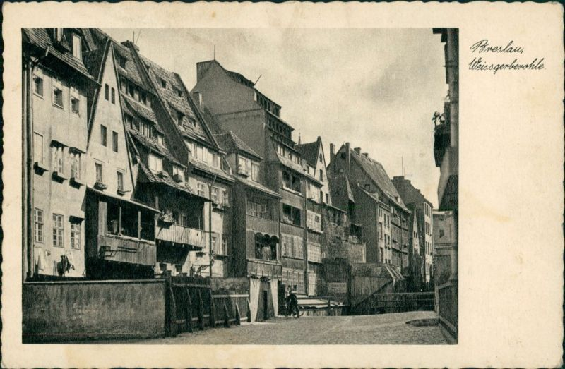 Postcard Breslau Wrocław Weissgerber Ohle 1935