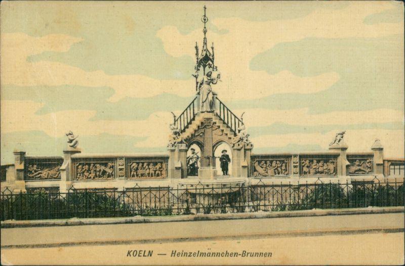 Ansichtskarte Köln Heinzelmännchenbrunnen 1910