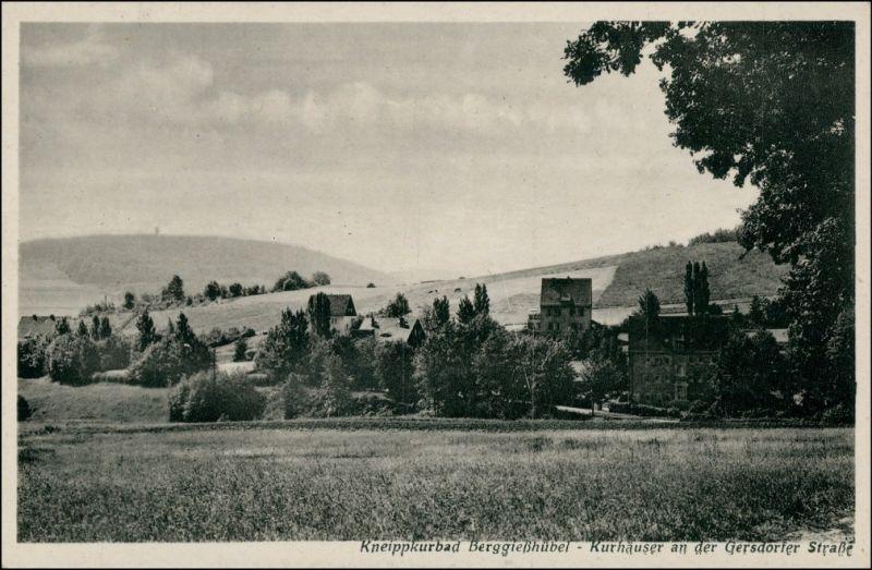 Gottleuba-Berggießhübel Kurhäuser von der Gersdorfer Straße 1939