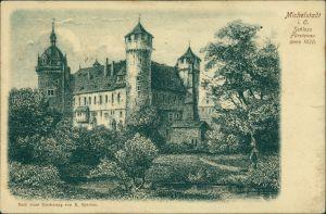 Ansichtskarte Michelstadt Schloss Fürstenau - Künstlerkarte 1906