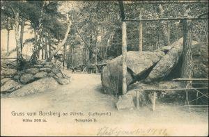 Ansichtskarte Schönfeld - Weißig-Dresden Borsberg - Rastplatz 1912