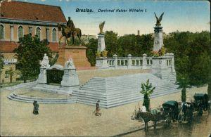 Postcard Breslau Wrocław Kaiser Wilhelm Denkmal 1917