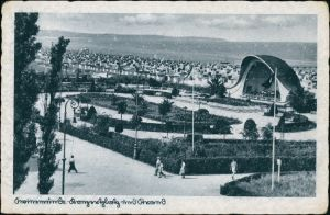 Postcard Swinemünde Świnoujście Konzertplatz 1936