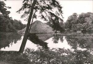 Ansichtskarte Branitz-Cottbus Seepyramide (Tumulus) im Branitzer Park 1979