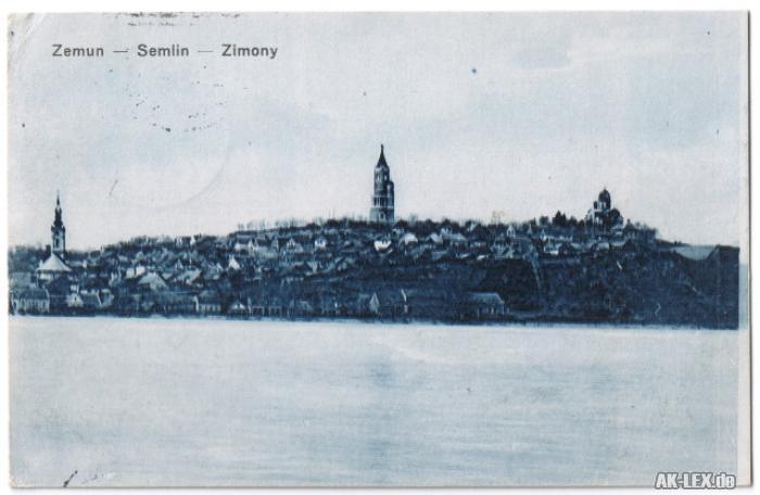 Semlin-Belgrad Zemun (Zimony / Земун ) Beograd (Београд) Panorama 1915