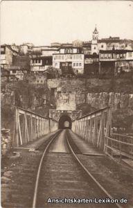 Weliko Tarnowo Велико Търново Eisenbahnstrecke mit Tunnel 1928