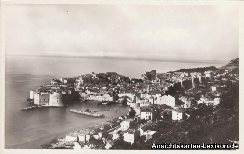 Postcard Ragusa Dubrovnik Totalansicht - Foto AK 1930