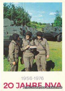 Ansichtskarte  1956-1976 - 20 Jahre NVA Landstreitkräfte - Panzer 1976